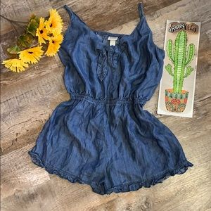 Denim One Piece Short Jumper